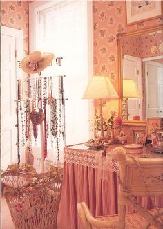 feminine room with lots of thingys