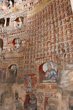 Yungang Grottoes: ancient Buddhist temple grottoes near the city of Datong in the Chinese province of Shanxi.