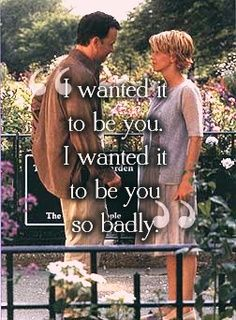 Youve Got Mail....I know that Sleepless in Seattle is THE classic Tom Hanks and Meg Ryan romantic comedy team-up, but Ill take Youve Got Mail anyday. Love this scene in the end...with Somewhere Over the Rainbow playing in the background, Meg Ryan meets her mystery friend and realizes that the love of her life is the love of her life. Aaahhh...they dont make em like that anymore. more funny pics on facebook: https://www.facebook.com/yourfunnypics101