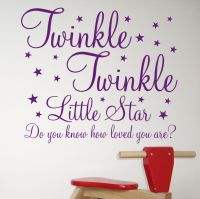 Twinkle, Twinkle Little Star, Do you know how loved you are? Beautiful wall sticker from Beautiful Wall, You Are Beautiful, Love You, Nursery Rhymes, Nursery Wall Art, Inspirational Wall Quotes, Fun Quotes, Childrens Stickers, Star Baby Showers