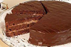 Recipe for a Prague cake or a Prague cake. Cookie Recipes, Dessert Recipes, Desserts, Baking Recipes, Homemade Pastries, Cocoa, Yummy Food, Tasty, Chocolate Glaze