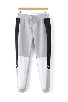 Grey Black Drawstring Jogger Pants Boys Joggers, Mens Jogger Pants, Joggers Outfit, Mens Sweatpants, Joggers Womens, Sport Pants, Knit Pants, Dress Pants, Track Pants Mens