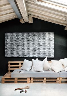 Build a pallet sofa yourself? - Home Decors Ideas 2020 Pallet Daybed, Pallet Furniture, Furniture Plans, Pallet Exterior, Interior And Exterior, Bar En Palette, Daybed Mattress, Daybed Design, Sofa Design