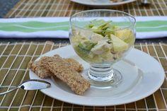 Frisse kipcocktail. lekker in de zomer, maar ook bij het kerstdiner.