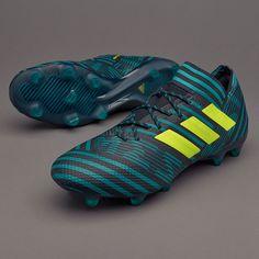94d04bf996ab Sepatu Bola Adidas Nemeziz 17.1 FG Legend Ink Solar Yellow Energy Blue  Terbaru 2017