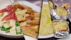 7 MANERAS DE COCINAR UNA PATATA Grilled Mushrooms, Grilled Tomatoes, Ovo Vegetarian, Banana Milkshake, High Calorie Meals, Energy Snacks, Apple Slices, Vegetable Salad, Vegetables