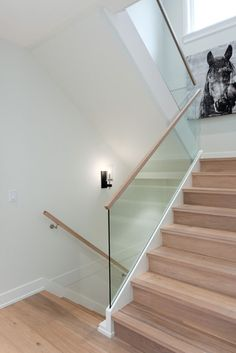 Luxury Glass Stairs Design Ideas For You This Year 41 Basement Stairs design Glass ideas Luxury Stairs Year Open Basement Stairs, Open Staircase, Staircase Railings, Wooden Staircases, Staircase Design, Staircase Ideas, Craftsman Staircase, Basement Ideas, Staircase Makeover