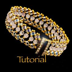 Beadwoven Bracelet Tutorial Luna with seed beads by JewelryTales, $6.00 by patsy