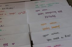 """""""Open when"""" letters for a loved one"""
