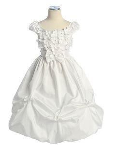 Vestido Daminha, tecido tafetá