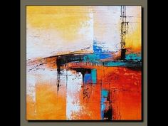 Demonstration of Abstract painting by Suraj Patel - YouTube