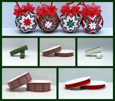 Quilted Ornaments, Christmas Crafts, Christmas Ornaments, Ribbons, Accessories, Ideas, Christmas Balls, Bias Tape, Xmas Crafts