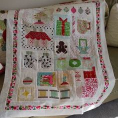 Image result for pink pincushion Christmas quilt