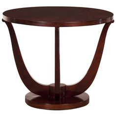 Art Deco Period Palisander Wood Circular Table, France C.1930. | From a unique collection of antique and modern coffee and cocktail tables at http://www.1stdibs.com/furniture/tables/coffee-tables-cocktail-tables/