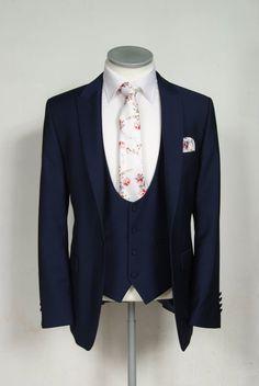Anthony formal wear hire, Essex. Royal blue slim fit.