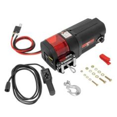 Bulldog DC4500 DC Electric Utility Winch w/Rope & Remote