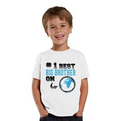 Number 1 Best Big Brother on Earth kids shirt or by shirtsbynany, $14.99