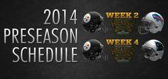 STEELERS Preseason Schedule 2014