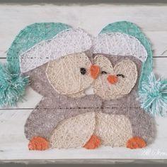Cuddle Penguins string art