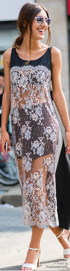 gorgeous sheer floral dress