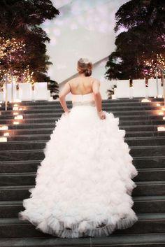 Look amazing with this ruffled wedding dress at the Ritz Carlton Charlotte Amazing Wedding Dress, Perfect Wedding, Dream Wedding, Summer Wedding, Bridal Gowns, Wedding Gowns, Lace Wedding, Wedding Attire, Wedding Bride