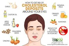 how to get rid of cholesterol deposits around eyes