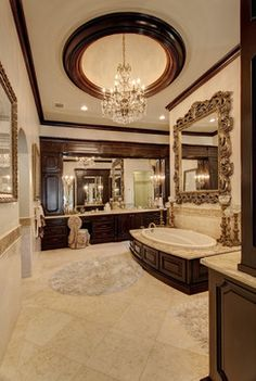 Luxe Mediterranean Master Bath } Simmons Estate Homes     ᘡղbᘠ