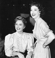"johnhannahs: ""Barbara Stanwyck and Loretta Young, 1950's """