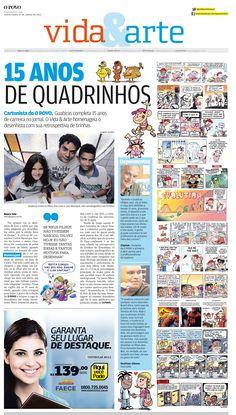15 anos de quadrinhos para o Jornal O POVO!