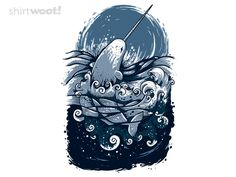 A nice narwhal shirt calls for some terrible narwhal jokes!
