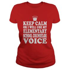 Elementary School Counselor Keep Calm or I Will Use My Voice T-Shirts, Hoodies. ADD TO CART ==► Funny Tee Shirts