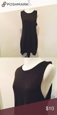 Muscle Tank Dress Dark gray muscle tee dress. Has a pocket over one breast. 100%cotton and bust is 16 inches, length is 30.5 inches. Worn once H&M Dresses