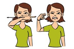 Ugly: Make an ugly face and swipe index finger across front of face pulling finger in. Sign Language Phrases, Sign Language Alphabet, Learn Sign Language, American Sign Language, Second Language, Deaf Sign, Asl Signs, Learn To Sign, Speech Therapy Activities