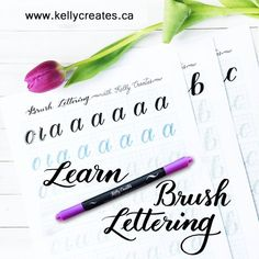 Learn brush lettering and calligraphy with brush pens, the best worksheets and tracing templates will guide you to powerhouse skills!