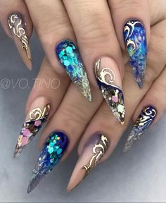 really cute nails Fabulous Nails, Perfect Nails, Gorgeous Nails, Best Acrylic Nails, Acrylic Nail Designs, Nail Art Designs, Bling Nails, My Nails, Cute Nails