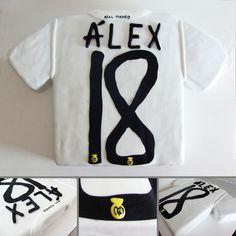 Tarta de fondant camiseta del Real Madrid | cake t-shirt soccer