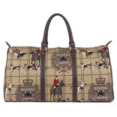Signare Tapestry Big Holdall/weekender/luggage Bag in Hunting Design *** Hurry! Check out this great item : Travel luggage