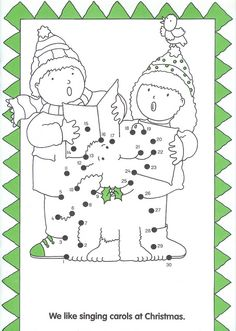 zingen in de winter, dot to dot, free printable