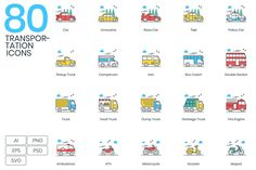 Like these Icons 80 Transportation Modern Icons—Moving, as humans it is a very important thing to do. From going to work, to simpl