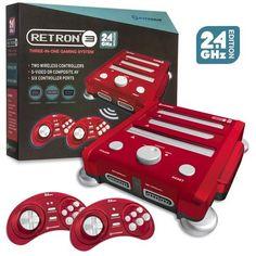 Retron 3 3in1 Super Nintendo NES SNES Sega Genesis Game Console 2.4 GHz - Red #Hyperkin