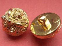6 kleine Knöpfe gold 15mm (1868) Blusenknöpfe