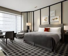 87 extraordinary and inspiring home bedroom interior design for decoration 23 Hotel Bedroom Design, Home Bedroom, Contemporary Bedroom, Modern Bedroom, Ideas Habitaciones, Spa Hotel, Hotel Interiors, Suites, Home And Deco