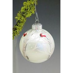 Christina's HAND PAINTED Winter Majesty Hand Painted Glass Ball Ornament