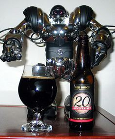 """A closer look at Red Brick """"Brick Mason Series #7: 20th Anniversary"""" Oak Aged Imperial Stout which is 10.00% ABV."""