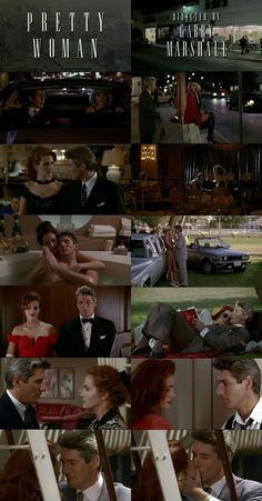 Richard Gere and Julia Roberts in Pretty Woman (1990) as Edward and Vivian.