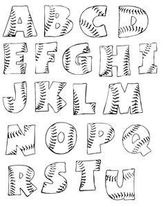 printable baseball letters