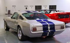 1966 Ford Mustang GT350SR - silver with blue stripes - rvr by Pat Durkin - Orange County, CA, via Flickr