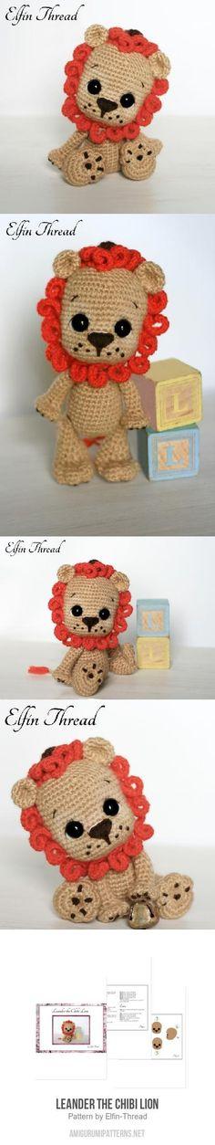 Leander the Chibi Lion amigurumi pattern