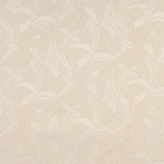 Beige And Off White Abstract Curved Lines Upholstery Fabric By The Yard