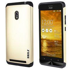 Asus Zenfone 6 Case, Brila® Dual Layer Bumper Case For Zenfone 6 (gold) http://www.smartphonebug.com/accessories/top-13-asus-zenfone-6-cases-and-covers/